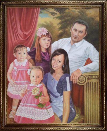 Семейный портрет маслом в Ташкенте — правильная традиция…