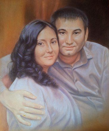 Семейный портрет пастелью — правильная традиция…