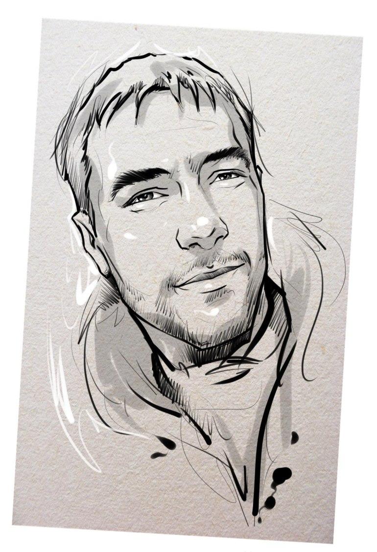 Портрет карандашом любимому мужу в Ташкенте…