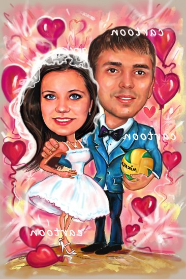 Свадебный шарж с оригинальным сюжетом в Ташкенте!