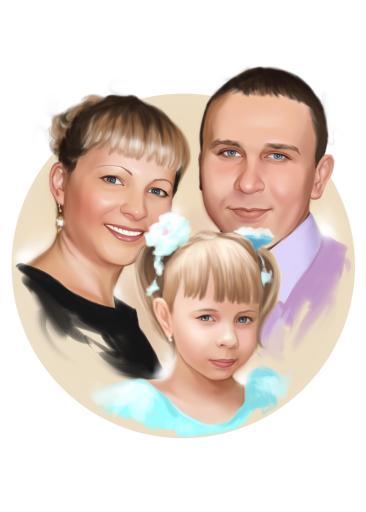 Семейный портрет по фото на холсте в Ташкенте — правильный подарок!