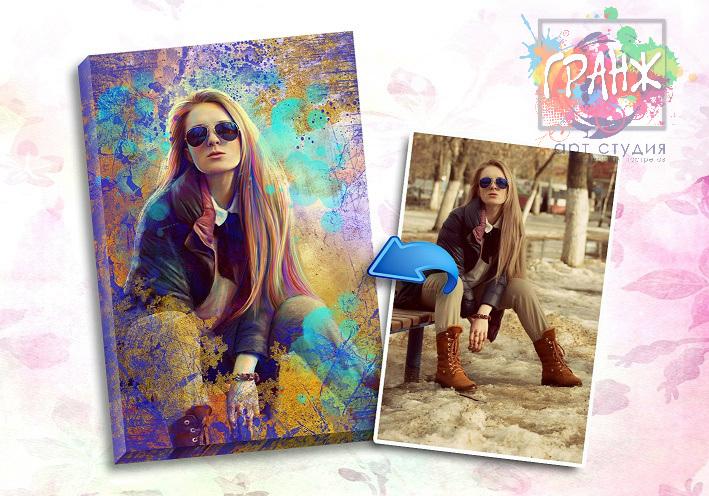 Портрет по фото на заказ в честь 8 марта в Ташкенте