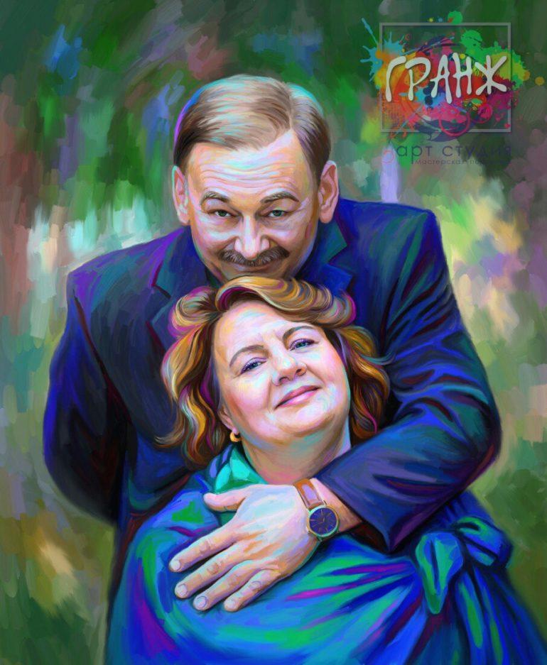 Портрет по фото на холсте Ташкент