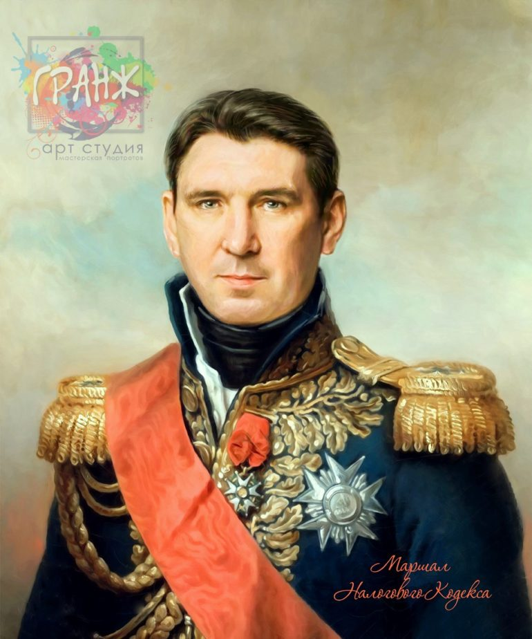 Портрет по фото на холсте в подарок мужчине на 23 февраля Ташкент