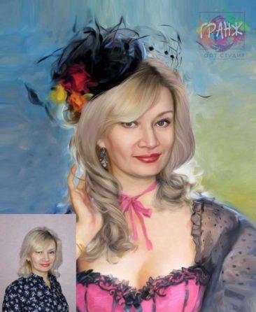Заказать арт портрет по фото на холсте в Ташкенте
