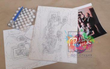 Картина по номерам по фото, портреты на холсте и дереве в Ташкенте